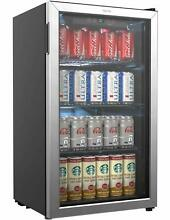 HOmeLabs Beverage Refrigerator and Cooler   120 Can Mini Fridge with Glass Do