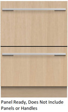 Fisher   Paykel DD24DI9N  DishDrawer Series Fully Integrated Double DishDrawer