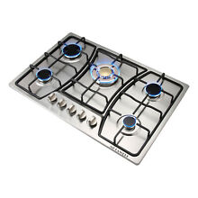 30  Built In Gold Main Stove 5 Burners Stainless Steel Gas Hob NG   LPG Cooktops