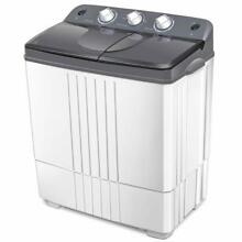 16lbs Washer And Spinner Portable Mini Compact Machine RV Apartment Gray White