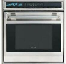 Wolf L Series 30  4 5 Dual Convection Single SS Electric Wall Oven SO30US