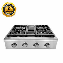 Stainless Steel 30 inch Professional Gas Rangetop with 4 Sealed Burners  Porcela