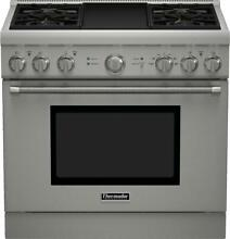 Thermador PRD364GDHU Pro Harmony Series 36 Inch Dual Fuel Freestanding Range