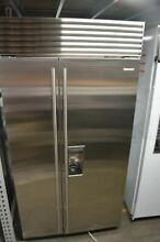 Sub Zero 42  Built In Stainless Steel Side by Side Refrigerator BI42SDSTH