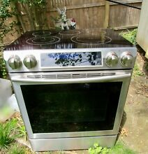 No Shipping Samsung 30  Slide In Electric Range Stove Stainless Steel PICK UP NY