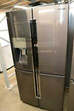 Samsung RF23J9011SG 22 5 cu  ft  Black Stainless Counter Depth French 4 Door