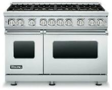 Viking VGR7488BSS02 48Inch Pro Style Gas Range with 8  Elevation Sealed Burners