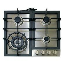 Magic Chef Cooktop Gas Stove Top 4 Burners LP Convertible 24 in  Stainless Steel