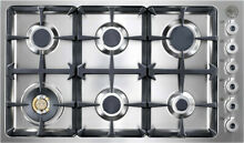 Bertazzoni DB36 6 00 X Stainless Steel 36 in  Gas Gas Cooktop