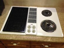 White Jenn air electric cooktop downdraft stove top model CVE4180W Jenn air