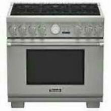 Thermador 36  All Telescopic Racks 6 Burn Pro Style Gas Range Stainless PRG366JG