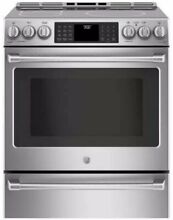 FREE SHIPPING New GE Caf  True Convection Slide in Induction 5 7 Range Stainless