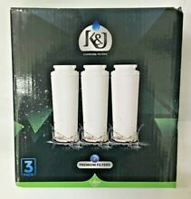 3Pack K J Refrigerator Water Filter Maytag Compatible for UKF8001 Pur