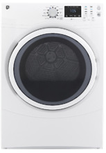GE  GFDN160GJWW 27 Inch 7 5 cu  ft  Gas Dryer in White 11 Cycles Front Load