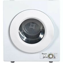 Magic Chef Electric Compact Laundry Dryer in White 2 6 Cu Ft