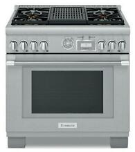 Thermador 36  Professional Series Pro Grand Stainless Steel Gas Range PRG364WLG