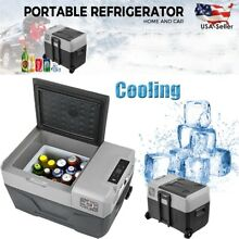 Portable Fridge Freezer Trolley Wheel 110V 240VAC Digital Panel 42QT Cola Cooler