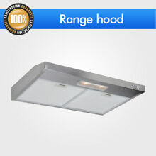 Dual Motors 30  Under Cabinet Stainless Steel Push Panel Kitchen Range Hood S