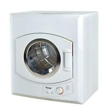 Compact Laundry Dryer 3 75 cu ft Stainless Steel Tub 4 Dryer Temperature White