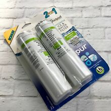 Whirlpool Pur Refrigerator Ice Water Filter 2 Pack New Filter 4 UKF8001 4396395
