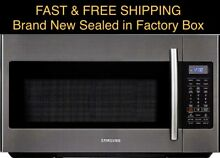 FREE SHIPPING New SAMSUNG Convection Over the Range Microwave Black Stainless