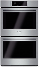Bosch 800 Series HBL8651UC 30  Double Electric Wall Oven w True Convection SxS