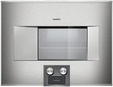 Gaggenau BS474611 400 Series 24  Electric Combi Steam Oven Right Hinge Stainless