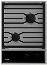 Wolf  CG152TFS 15 Inch Gas Cooktop with 2 Sealed Burners