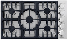 DCS CDV365N 36 Inch Gas Cooktop with 5 Sealed Burners Stainless Steel