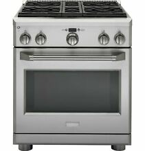 Monogram 30 Stainless Steel 4 Burners Dual Fuel Pro style Gas Range ZDP304NPSS
