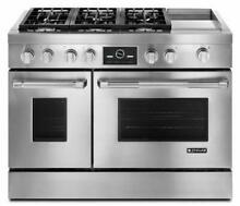 Jenn Air 48  Gas Convection Freestanding Range Stainless Steel Griddle JGRP548WP