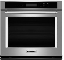 KitchenAid KOST100ESS 30 Inch Single Electric Wall Oven in Stainless Steel