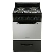 24  Wide Slide in Coil top Electric Range with Oven Window PREMIUM BRAND NEW