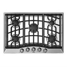 Viking 30  Stainless Electric Spark 5 Sealed Burners Gas Cooktop RVGC33015BSS