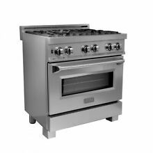 ZLINE 30  DUAL FUEL RANGE OVEN GAS ELECTRIC SNOW FINISH STAINLESS RAS SN 30