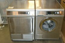 Miele PT7135CSS PW6068SS 24 ft  Electric Dryer 24  Front Load Washer set silver
