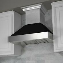 ZLINE 30  NEW SNOW STAINLESS STEEL BLACK MATTE SHELL WALL RANGE HOOD 8654BLM 30
