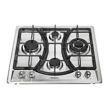 23  Stainless Steel 4 Burners Stove NG LPG Gas Hob Cooktop Cooker Built In Stove