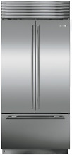 Sub Zero BI 36UFDID S TH 36  Built in French Door Refrigerator Stainless Steel
