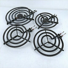 Four GE Hotpoint Stove Range Replacement Heating Coil Electric Stovetop Burners