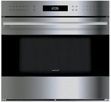 Wolf E Series SO30TE S TH 30  Single Electric Wall Oven True Convection SxSteel
