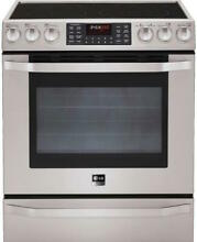 LG Studio 30  Electric Oven Range with Dual True Convection System   LSES302ST