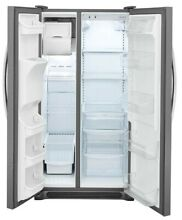 Frigidaire 25 5 cu  ft  Side by Side Refrigerator  Stainless Steel FREE SHIPPING