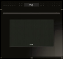 Wolf SO30CE B TH E Series 30 Inch Single Electric Wall Oven in Black 4 5 Cu  Ft
