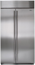 Sub Zero BI42SIDSTH 42  Built in Side by Side Refrigerator in Stainless Steel
