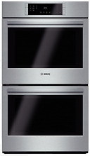 Bosch 800 Series HBL8651UC 30 Inch Double Electric Wall Oven in Stainless Steel