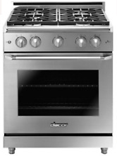 Dacor HGER30SNGH Heritage 30  Epicure Gas Range w 4 Sealed Burners High Altitude