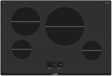 Bosch 500 Series NIT5068UC 30 Inch Induction Cooktop with 4 Burners in Black