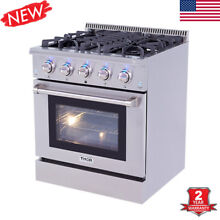 30 Stainless Steel Gas Stove 5 Burners Cooktop Hob Cooking NG LPG Electric Oven