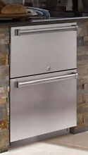 Sub Zero ID24RO 24  Outdoor Double Drawer Refrigerator with Pro Stainless Panel